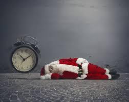 santa asleep