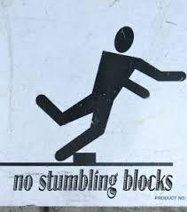 no stumbling