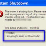 System Shutdown – Prepare to Standby …